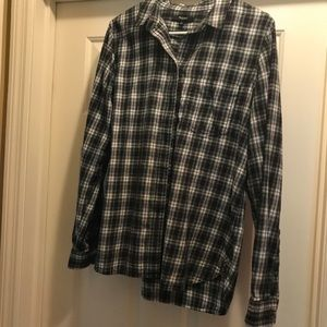 Women's Madewell flannel shirt top Large